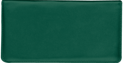 Hunter Green Checkbook Cover - enlarged image