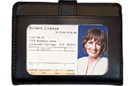 Black Leather Debit Organizer - enlarged image