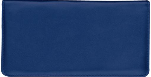 Navy Checkbook Cover - enlarged image