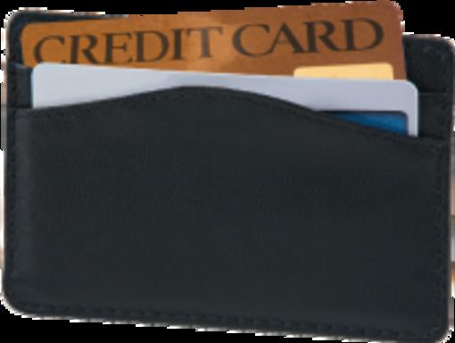 Black Credit Card Sleeve - enlarged image