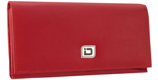 Ladies Leather Clutch - Red - enlarged image