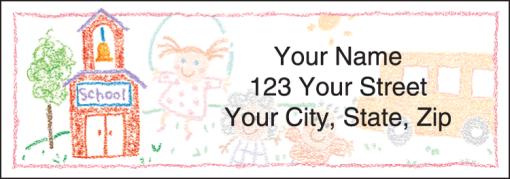 School Memories Labels - enlarged image