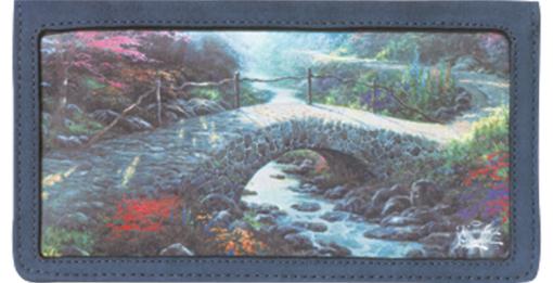 Serenity by Thomas Kinkade Checkbook Cover - enlarged image