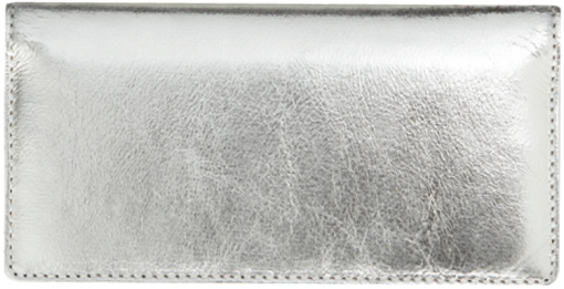 Silver Metallic Checkbook Cover - enlarged image