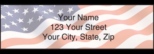 Stars & Stripes Labels - enlarged image
