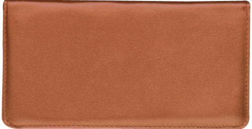 Tan Standard Checkbook Cover - enlarged image