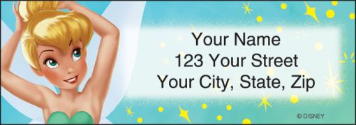 Disney Tinker Bell Labels - enlarged image