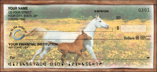 Horse Play Checks - enlarged image