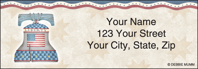 America the Beautiful Address Labels - Set of 210