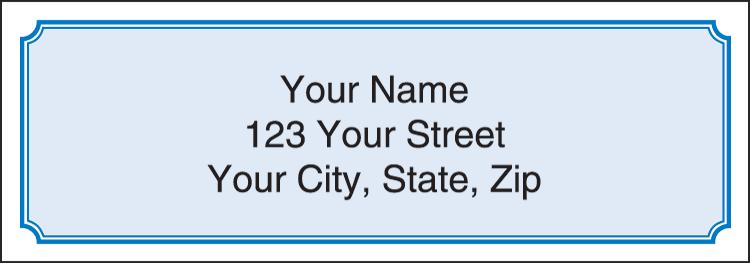 Blue Classic Address Labels - Set of 210