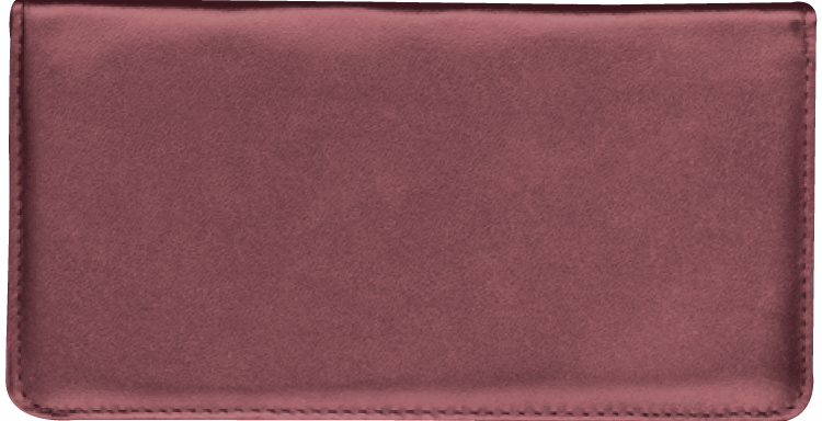 Burgundy Leather Checkbook Cover, no monogram
