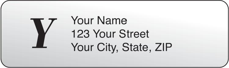 Clear Monogram Rolled Address Labels Set of 250