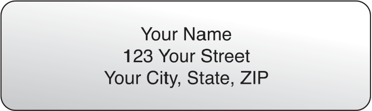 Clear Rolled Address Labels Set of 250