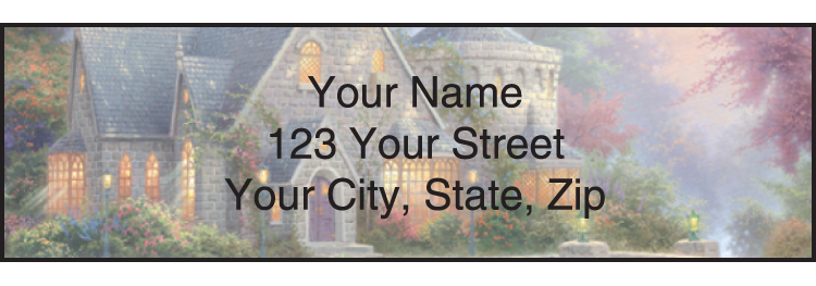 Quiet Escapes by Thomas Kinkade Address Labels - Set of 210