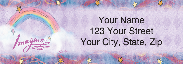 Flavia Celestial Address Labels - Set of 210