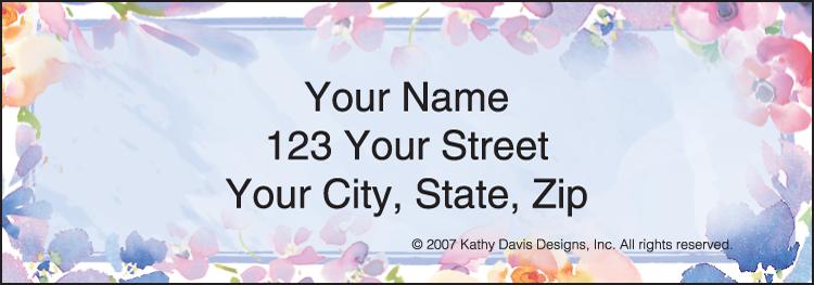 In Full Bloom by Kathy Davis Address Labels - Set of 210