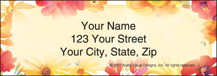 In Full Bloom by Kathy Davis Address Labels - Set of 210
