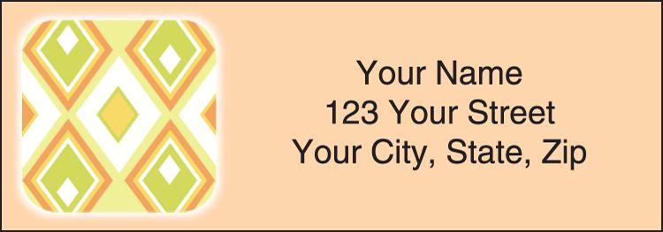 Geometric Address Labels - Set of 210