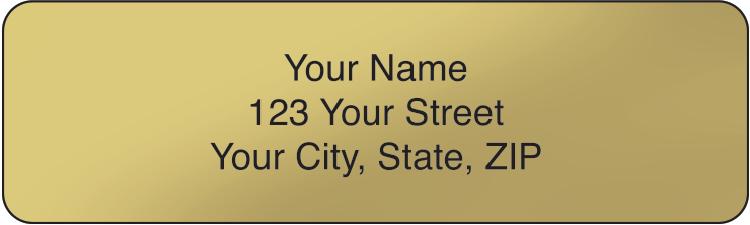 Gold Rolled Address Labels Set of 250