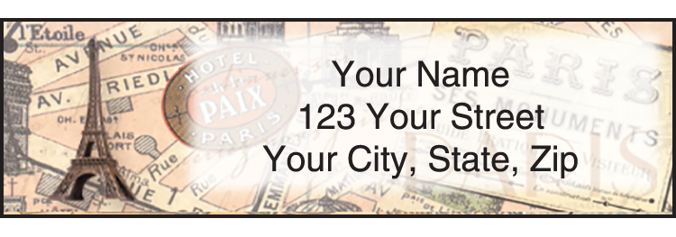 The Grand Tour Address Labels - Set of 210