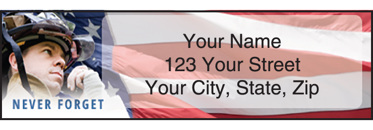 American Heroes Address Labels - Set of 210