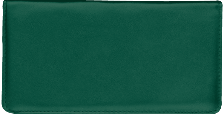 Hunter Green Checkbook Cover