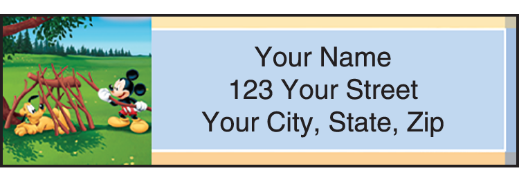 Mickey's Adventures Address Labels - Set of 210