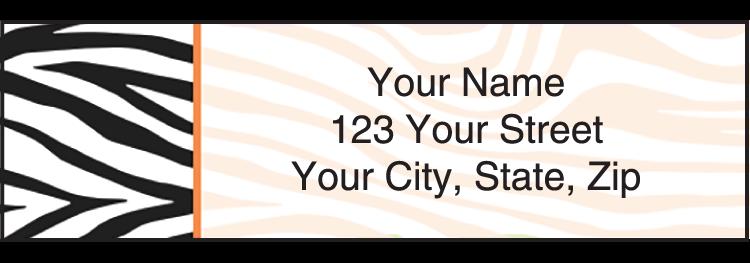 Neon Safari Address Labels - Set of 210