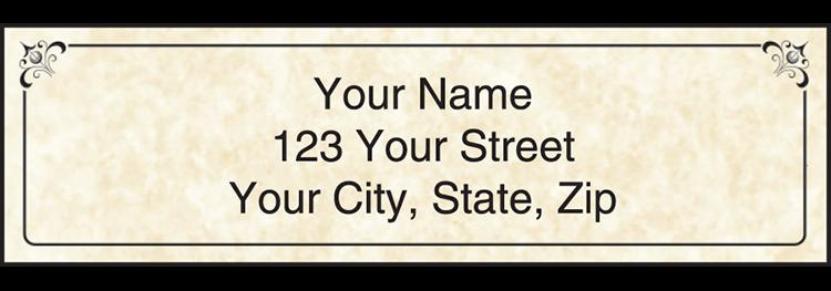 Parchment Address Labels - Set of 210