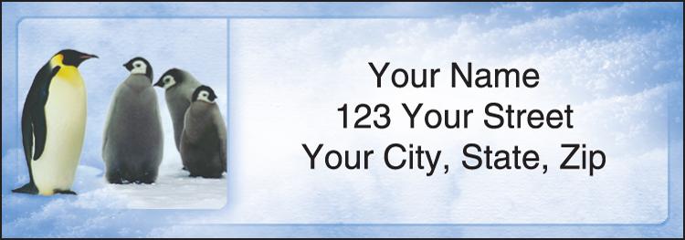 Penguin Parade Address Labels - Set of 210