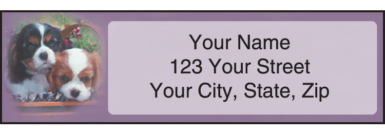 Playful Pups Address Labels - Set of 210