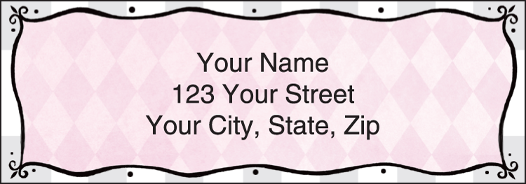 Pretty in Pink Address Labels - Set of 210