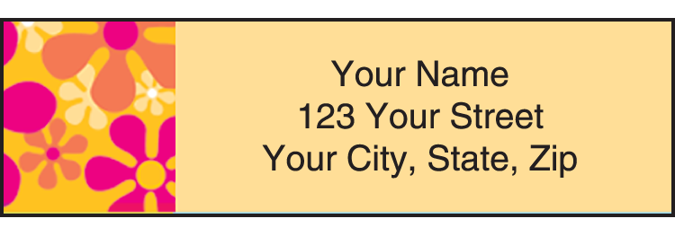 Retro Graphics Address Labels - Set of 210