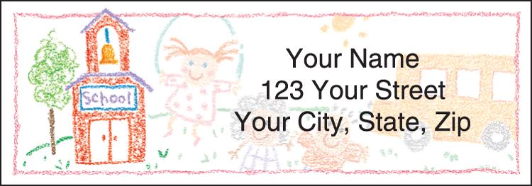 School Memories Address Labels - Set of 210