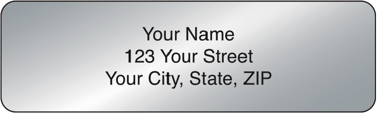 Silver Rolled Address Labels Set of 250