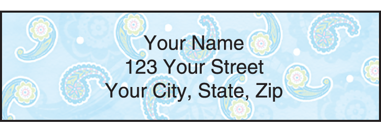 Simply Paisley Address Labels - Set of 210