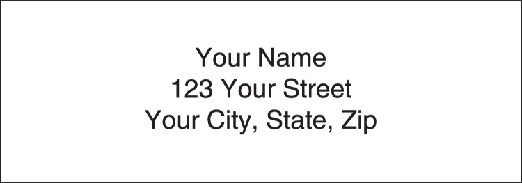 White Address Labels - Set of 210