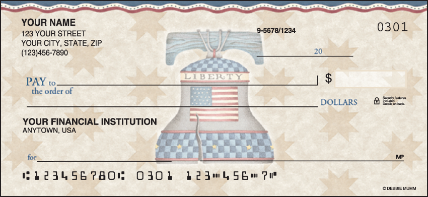 America the Beautiful Scenic Personal Checks - 1 Box - Duplicates