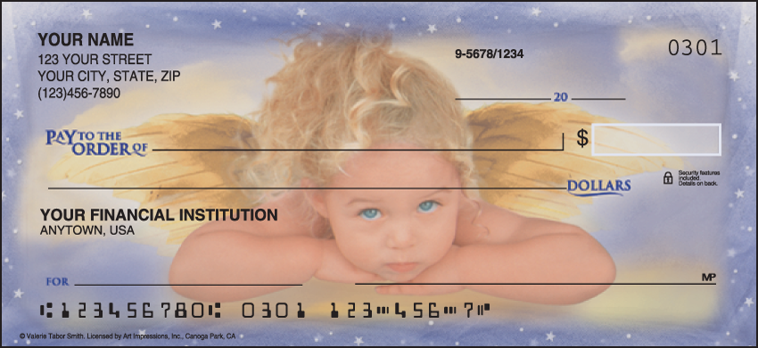 Angel Faces Religious Personal Checks - 1 Box - Duplicates