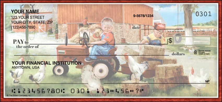 Barnyard Buddies Animal Personal Checks - 1 Box - Duplicates