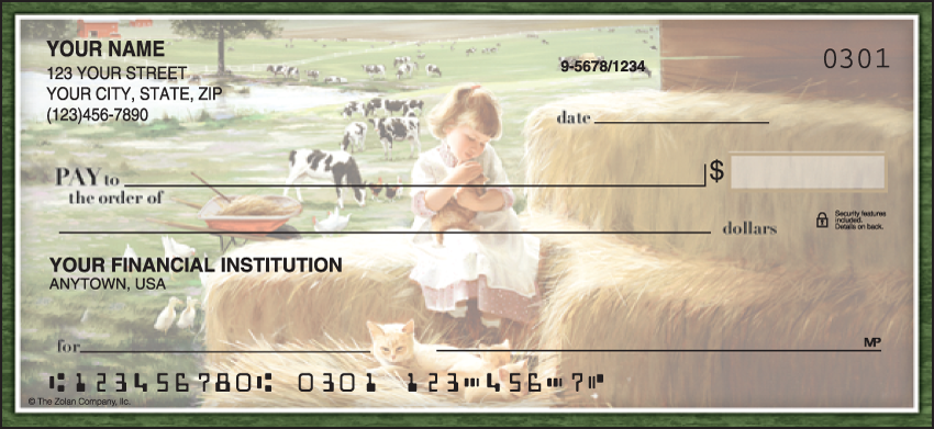 Barnyard Buddies Animal Personal Checks - 1 Box - Duplicates
