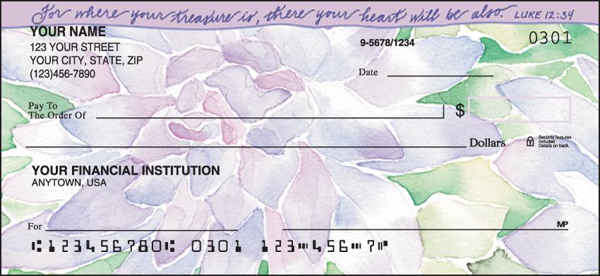 Beautiful Blessings Religious Personal Checks 1 Box Duplicates