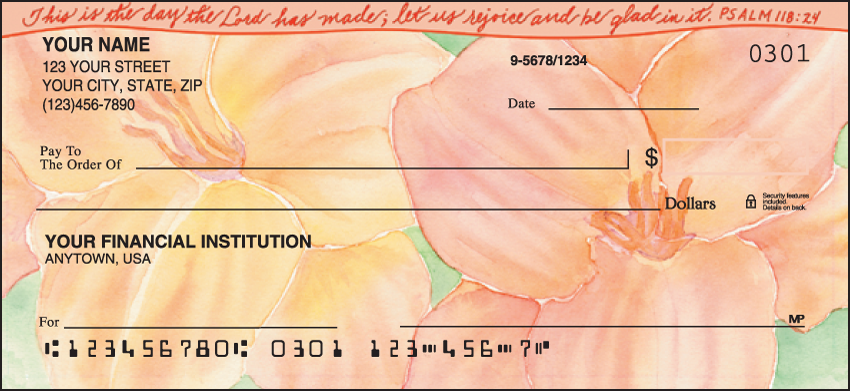 Beautiful Blessings Religious Personal Checks - 1 Box - Singles