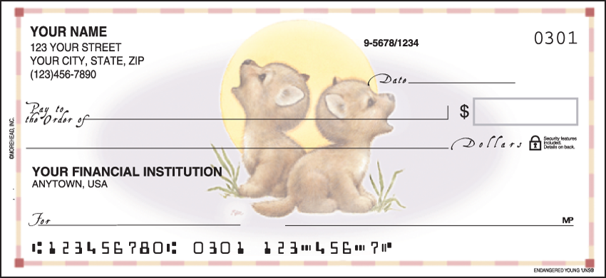 Image of Endangered Young'uns Animal Personal Checks
