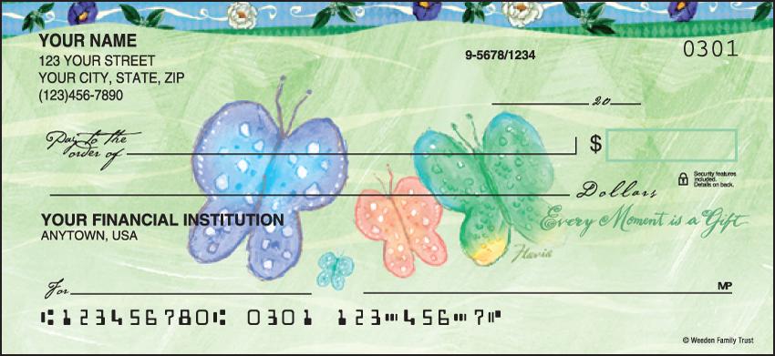 Flavia Celebrations of Life Butterfly Personal Checks - 1 Box