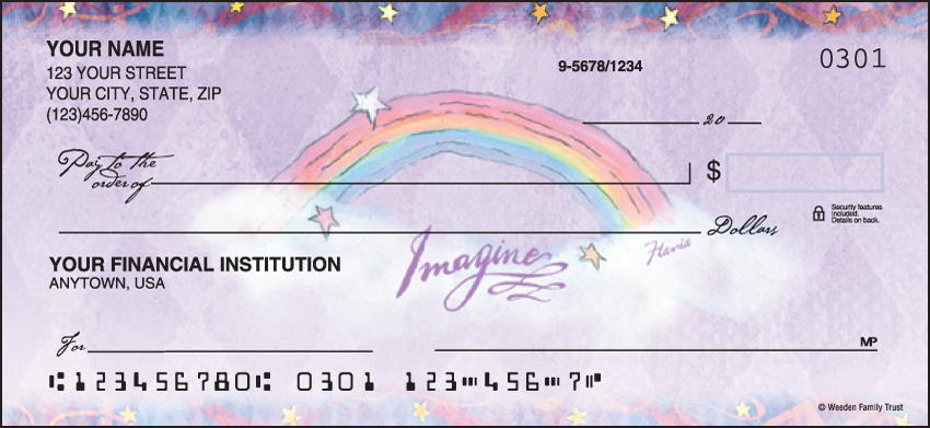Flavia Celestial Artistic Personal Checks - 1 Box - Duplicates