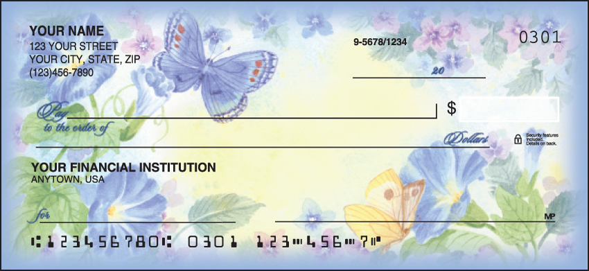 Flower Garden Garden Personal Checks - 1 Box - Duplicates