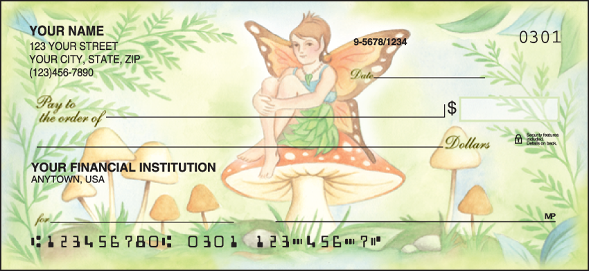Garden Fairies Garden Personal Checks - 1 Box - Duplicates