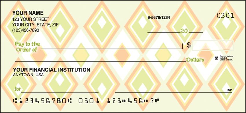 Geometric Pattern Personal Checks - 1 Box - Duplicates