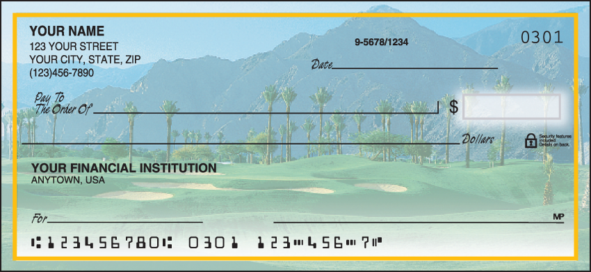 Golf Escapes Scenic Personal Checks - 1 Box - Duplicates